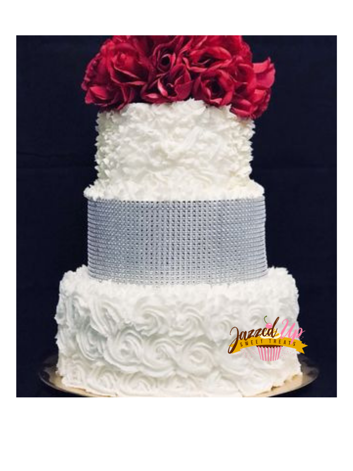 Three Tiered Wedding Cake - Homemade