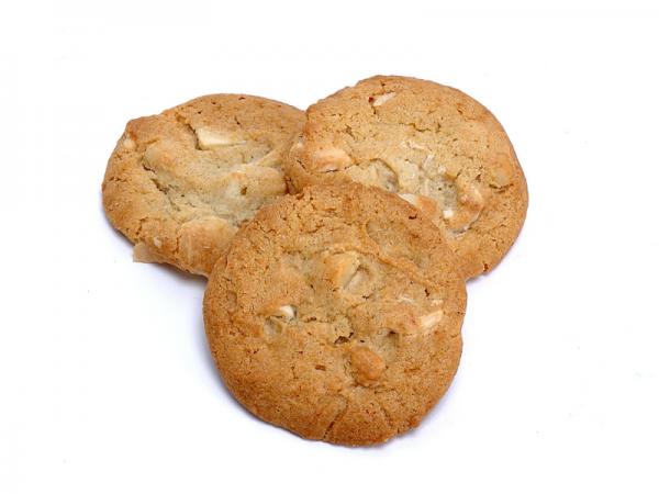 White Macadamia Nut Cookies - homemade